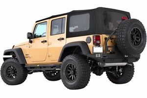 Smittybilt Premium Canvas Tinted Soft Top For 2007 2009 4 door Jeep Wrangler Jk