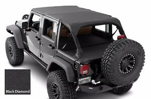 Smittybilt Extended Top Tonneau Cover For 2007 2009 4 door Jeep Wrangler Jk