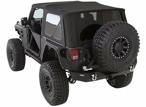 Smittybilt Premium Canvas Tinted Soft Top For 2007 2009 2 door Jeep Wrangler Jk