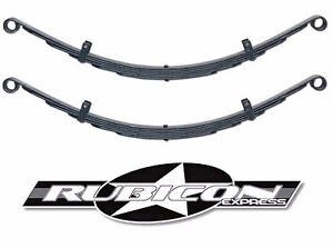 Rubicon Express Soa 6 Leaf Rear Leaf Springs 1 5 For 1987 1995 Jeep Wrangler Yj