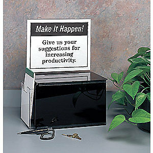 Baw Plastics Suggestion Box acrylic black Acrysugboxblack Black