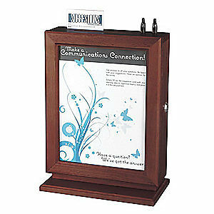Wood clear Acrylic Sheet Customizable Suggestion Box mahogany 4236mh Mahogany