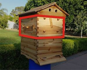 Usa Auto Flow Frame Honey Super Box 7 Combs For 10 frame Langstroth Beehive