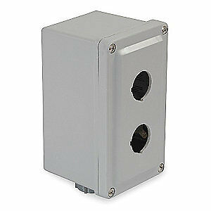 Schneider Electric Pushbutton Enclosure 30mm 2 Hole plastic 9001sky2 Gray