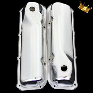 Valve Covers For Ford 351 Cleveland Chrome Factory Height 1970 And Up