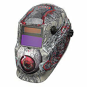 Lincoln Electric Welding Helmet shade 9 To 13 tan red K3190 1 Red tan