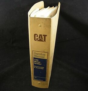 Caterpillar 14h Motor Grader Service Repair Shop Manual Assembly Disassembly Cat