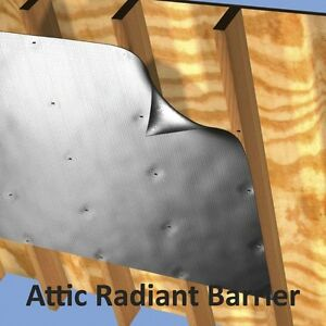 Reflective Insulation Heavy Duty Perforated Radiant Barrier Attic Wrap Roll Foil