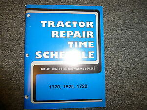 New Holland 1320 1520 1720 Tractor Service Repair Time Schedule Manual