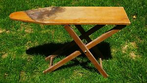 Antique Childrens Wooden Ironing Board