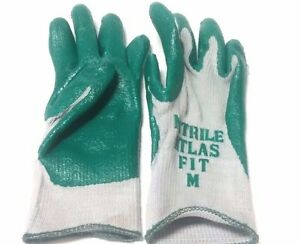 New 12 Pair atlas Fit 350 Knit Glove With Nitrile Palm Coating Size Medium