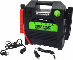 Forney 52732 12 volt Jump Start Battery Booster Pack With 120 Psi Air Compressor