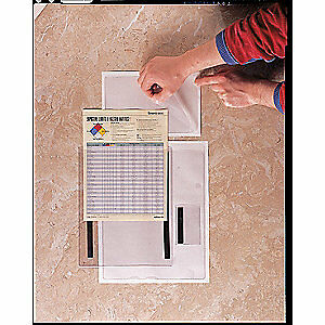 Baw Plastics Document Holder clear 5 X 8 In mag pk50 48301 Clear