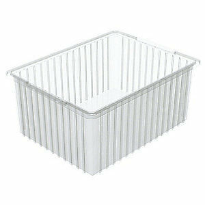Akro mils Divider Box 22 3 8 X 17 3 8 X 10in clear 33220sclar Clear