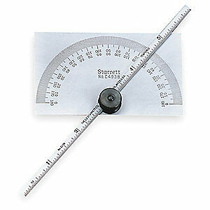 Starrett Tool Steel Protractor And Depth Gage 6 In C493b