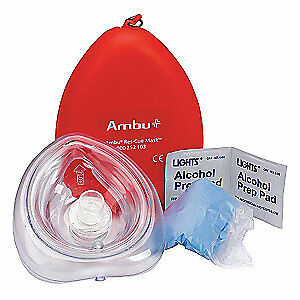 First Aid Only Cpr Mask 6 Components 4 1 4 In L M573 ambu gr