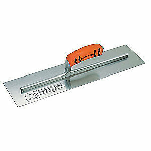 Kraft Tool Carbon Steel Concrete Trowel square 4 X 18 In steel Cf227pf