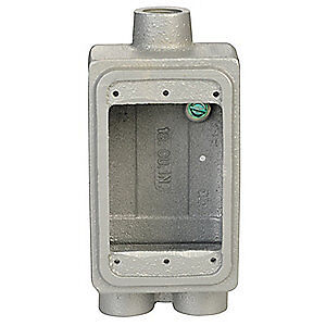 Appleton Elect Malleable Iron Weatherproof Box 2 81 d 1 In Hub Fdcc 1 100 Gray