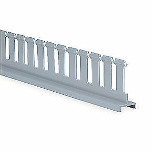 Panduit Lead Free Pvc Divider Wall 2 In H slotted gray pvc Sd2h6 Gray