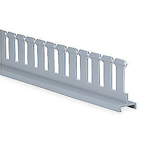 Panduit Lead Free Pvc Divider Wall 3 In H slotted gray pvc Sd3h6 Gray