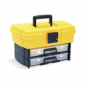 Flambeau Polypropylene Building Bx Portable Storage Systm ylw 6730hb Yellow