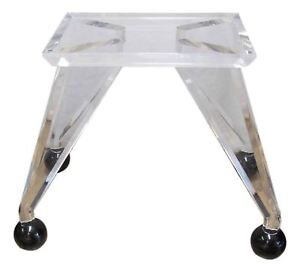 Mid Century Modern Lucite Dining Table Base