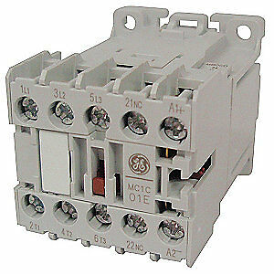 General Electric Iec Magnetic Contactor 208vac 6a 1nc 3p Mc0a301atm
