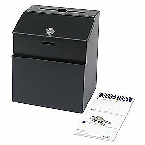 Safco Suggestion Box steel black 4232bl Black