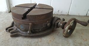 10 Brown Sharpe Rotary Table For Milling Machine Mill Cnc Bridgeport Vintage