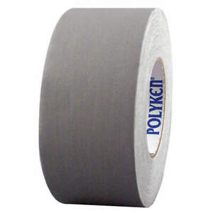 Polyken Vinyl Coated Cloth Gaffers Tape gray 55 Yd L X 4 In W 510 Gray