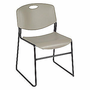 Regency Stack Chair 400 Lb gray no Arms pk4 4400gy