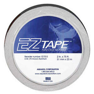 Aquasol Coated Aluminum Foil Aluminum Tape 2x75 Ft Ez t 2 0