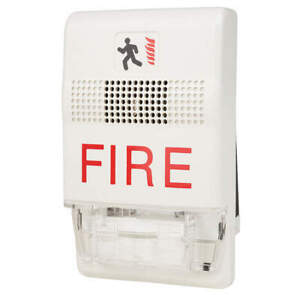 Edwards Signaling Horn Strobe marked Fire white Eg1f hdvm