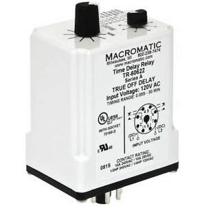 Macromatic Time Delay Relay 120vac dc 10a dpdt Tr 60622