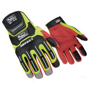 Ringers Impact Gloves high Vis Grn syn Leather l 146 10 High Visibility Green