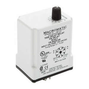 Macromatic Time Delay Relay 120vac dc 10a dpdt Tr 50222 08