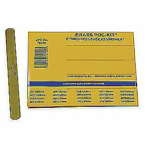 Precision Brand 260 Alloy Brass Feeler Gage Set 20 Pc 76740