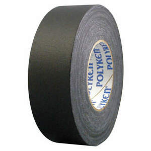 Polyken Vinyl Coated Cloth Gaffers Tape 11 5 Mil 72mm X 50m black 510 Black