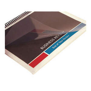 Sircle Binding Covers plastic clear pk100 Ccs 10 sq Clear