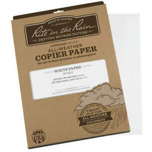 Rite In The Rain All Weather Copier Paper 8 1 2x11 pk200 8511 White