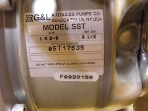 9st17535 Goulds Water Technology Industrial Pump