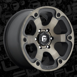 5 18 Fuel Beast Black Wheels 35 Atturo Mt Tires Package Jeep Wrangler Jk