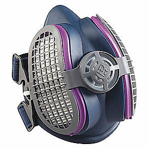 Miller Electric Half Mask Respirator push connect m l Ml00995 Magenta