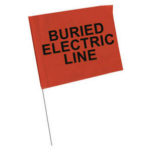 Brady Marking Flag blk red elec plastic pk100 98168 Black red