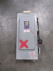 Square D 30 Amp Fusible Disconnect Safety Switch 600 Volts Cat Unknown