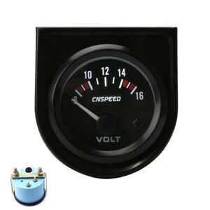 2 Inch 52mm Led 8 16v Mechanical Car Auto Volt Voltmeter Voltage Gauge Meter