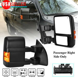 Passenger Right Tow Mirror For 08 16 Ford F250 F350 Power Heated Turn Signal