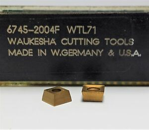 lot Of 29 Waukesha 6745 2004f Tin Coated Carbide Inserts Wtl71