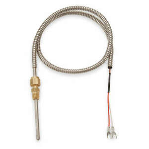 Tempco 304 Stainless Steel Thermocouple type J lead 48 In Tcp60089