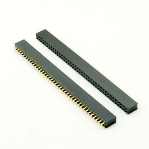 100x 2 54mm Pitch 2x40 Pin 80 Pin Female Double Row Straight Pin Header Strip